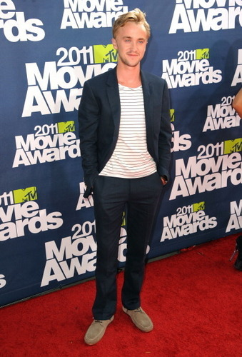 Tom Felton at 音乐电视 Movie Awards 2011