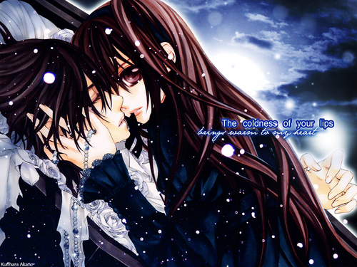 वेमपाइर नाइट वॉलपेपर possibly with an outerwear titled Vampire Knight