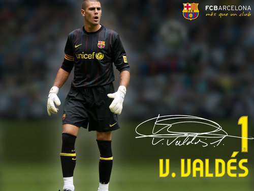 Victor Valdes Season 2009/10 - fc-barcelona Wallpaper