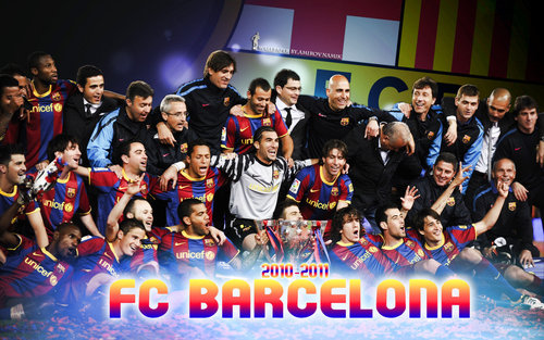 FC Barcelona wallpaper containing a concert titled Winner of La Liga 2010/11!