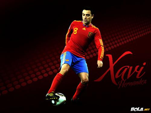Xavi Spanish National Team 壁紙