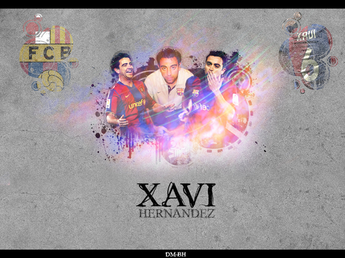 FC Barcelona wallpaper possibly containing a sign and anime entitled Xavi