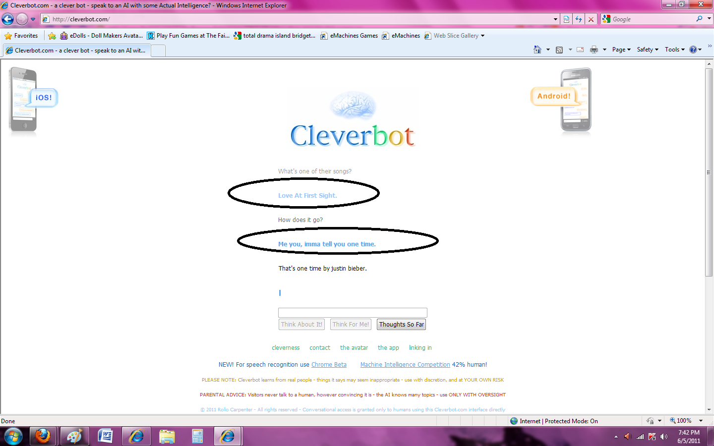 cleverbot fail.