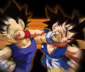 Goku jr V vegeta jr