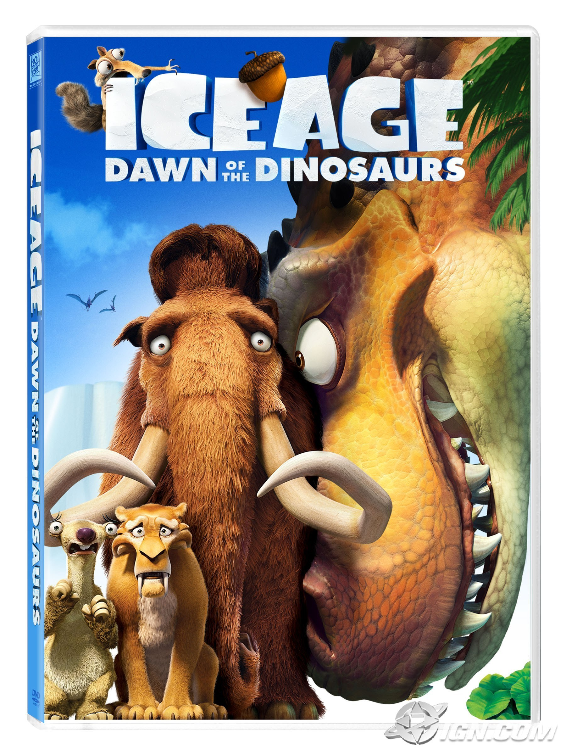 Ice Age Dawn Of The Dinosaurs Movie Trailer And Review