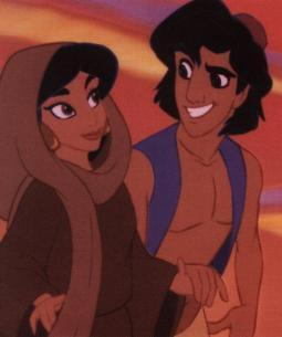 Aladdin and Jasmine wallpaper containing anime entitled jasmine and aladdin