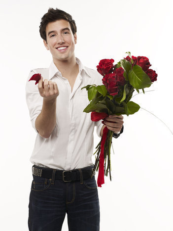 Logan Henderson 壁紙 containing a bouquet and a camellia titled logan sexy
