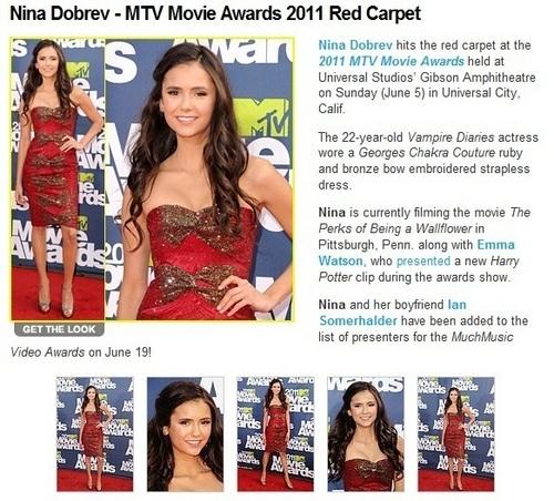 nina in MTV awards 2011