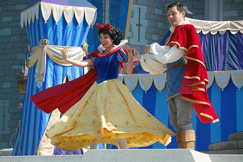 snow white and prince at disneyworld
