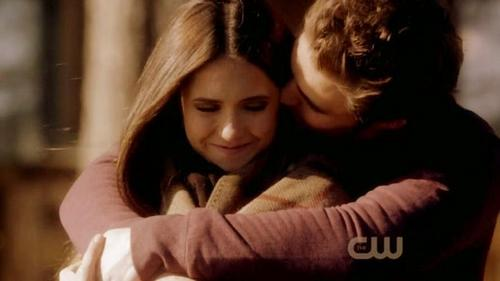 Stefan & Elena wallpaper possibly containing a portrait called stelena 2x14
