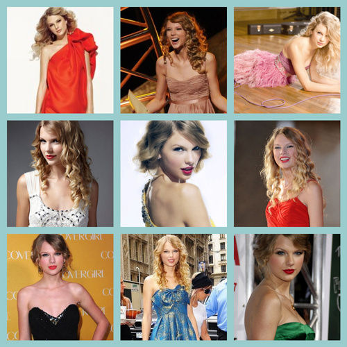 taylor cepat, swift collages warna