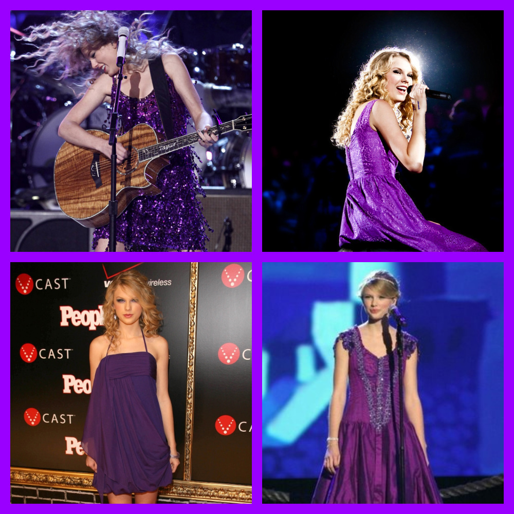 Taylor Swift Events Dress Ups With Purple Out Fits  : Taylor Swift Casual Dresses\