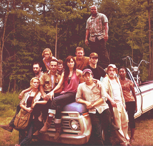 the cast - the-walking-dead Photo