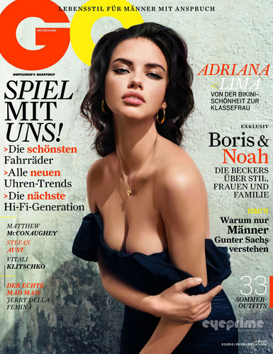 Adriana Lima covers GQ Germany July 2011