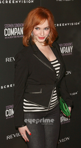 Christina Hendricks wallpaper containing a well dressed person and a portrait titled 'The Company' New York Premiere