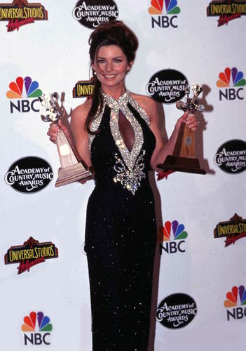 Shania Twain wallpaper probably with a cena dress, a cocktail dress, and a toga, abito called Academy of Country Musica Awards 1996
