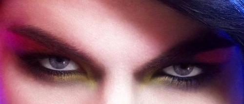 Adam Lambert's eyes