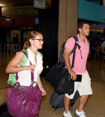 Alyssa - Alyssa and Dave Bugliari leave Bora Bora, August 29, 2009
