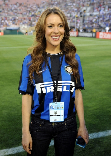Alyssa - At the World Football Challenge between Chelsea FC and Inter Milan, July 21, 2009