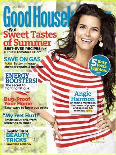 Angie Harmon Covers 'Good Housekeeping' July 2011