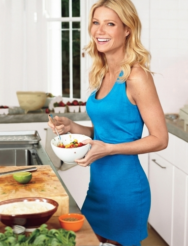 Gwyneth Paltrow wallpaper containing a dinner, a lunch, and a brunch entitled Bon Appétit - June 2011