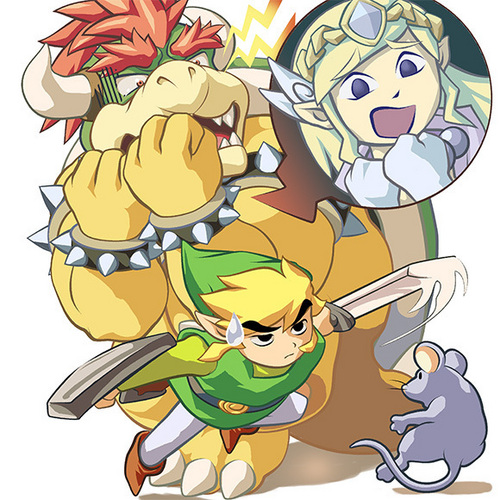 Nintendo wallpaper containing anime entitled Bowser in LoZ: ST  LOL!!!