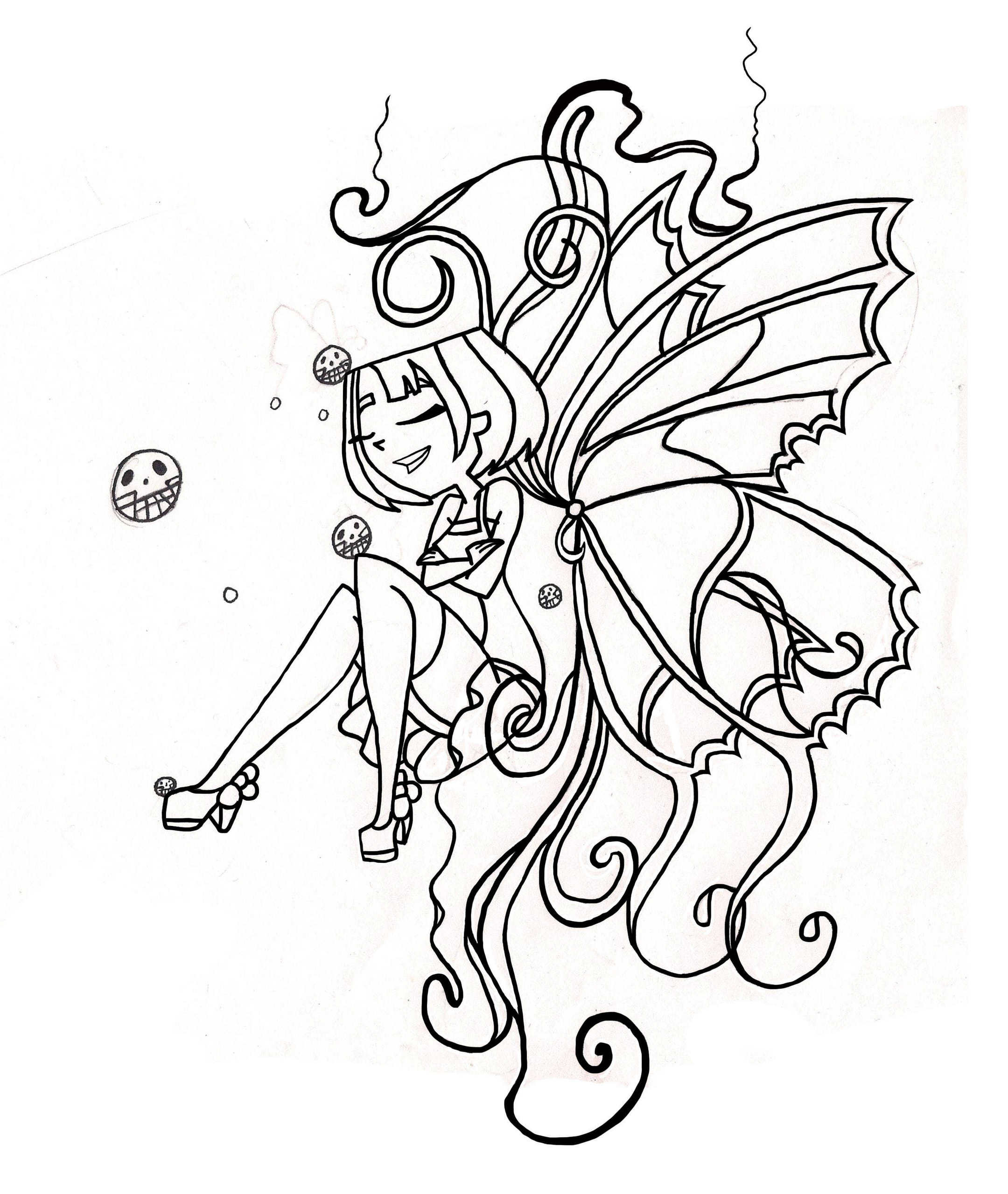 Butterfly Tattoo (Outline) - TDI's GwenxDuncan Fan Art (22799397