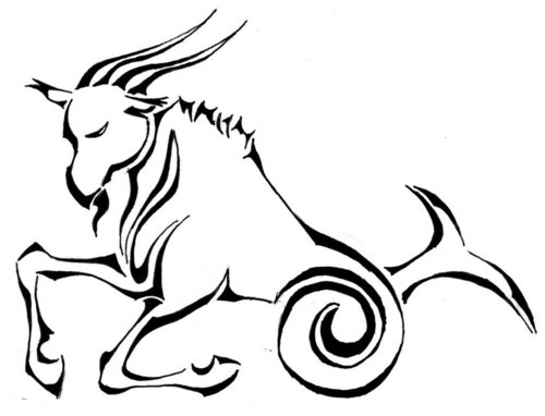 Capricorn پیپر وال possibly containing a triskelion and an embryonic cell entitled Capricorn