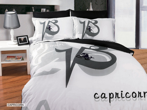 Capricorn wallpaper probably containing a bedroom, a hotel room, and a twin bed entitled Capricornus