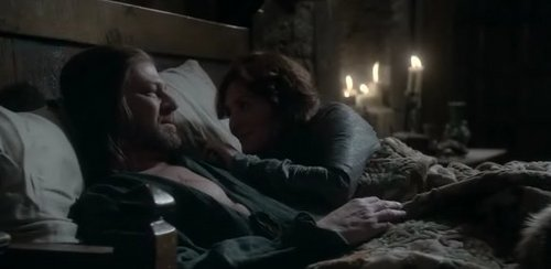 Cat & Ned in bed <3