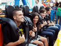 Cory, Chris, Lea & Mark on a rollercoaster:)