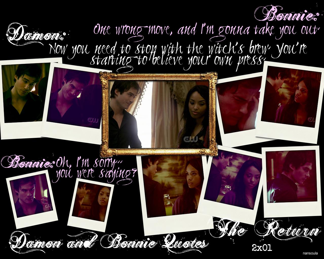 Damon And Bonnie Quotes Season Two 2x01 The Return Part 4 Damon