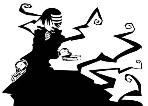 Soul Eater (Пожиратель душ) Обои possibly containing a business suit and Аниме entitled Death the Kid Silhouette