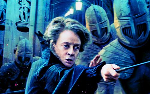 Deathly Hallows Action Wallpaper: Professor McGonagall