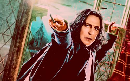 Deathly Hallows Action Wallpaper: Severus Snape