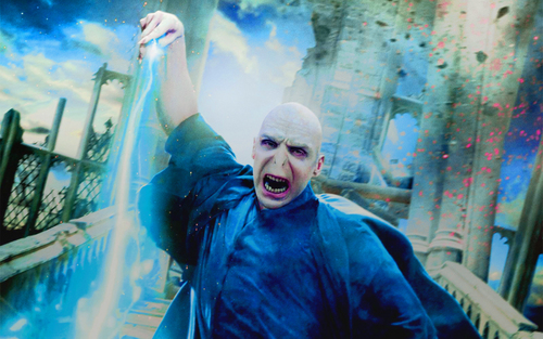 Deathly Hallows Action Wallpaper: Lord Voldemort