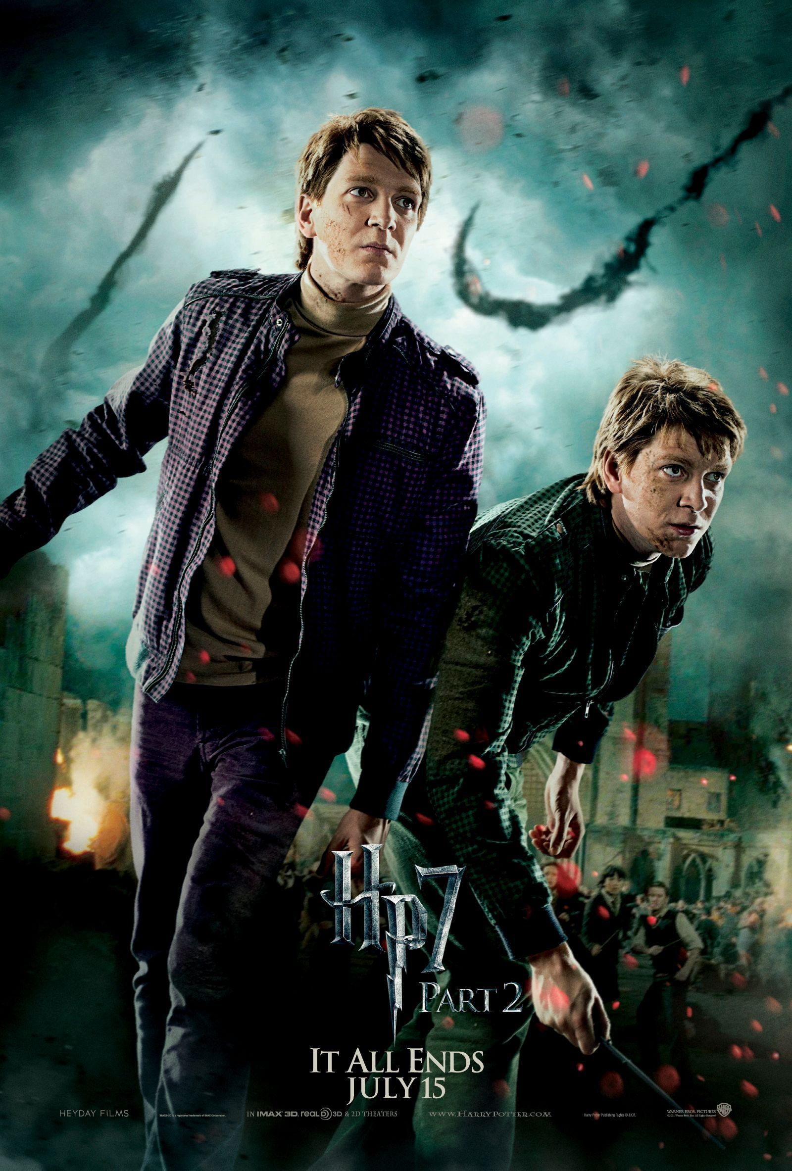 Deathly Hallows Part 2 Action Poster: The Weasley Twins [HQ]