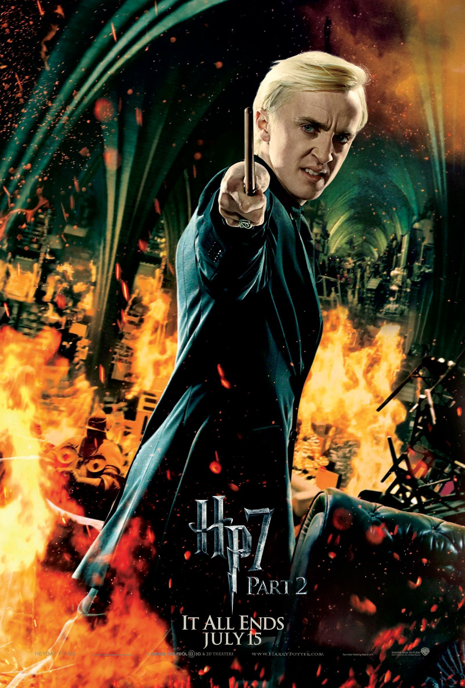 Deathly Hallows Part 2 Action Poster: Draco Malfoy [HQ ...