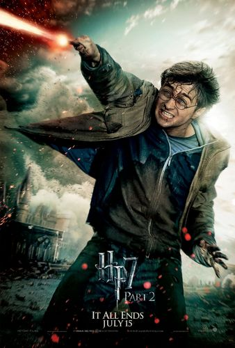 Deathly Hallows Part 2 Action Poster: Harry Potter [HQ]