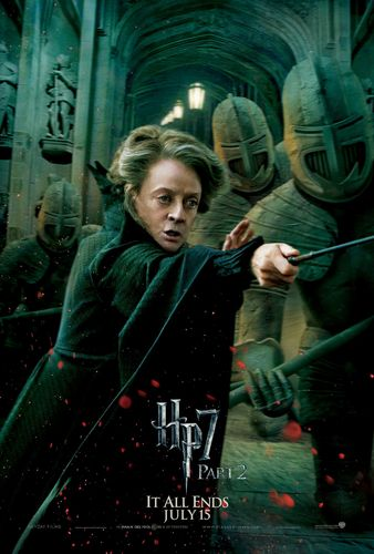 Deathly Hallows Part 2 Action Poster:  Professor McGonagall [HQ]