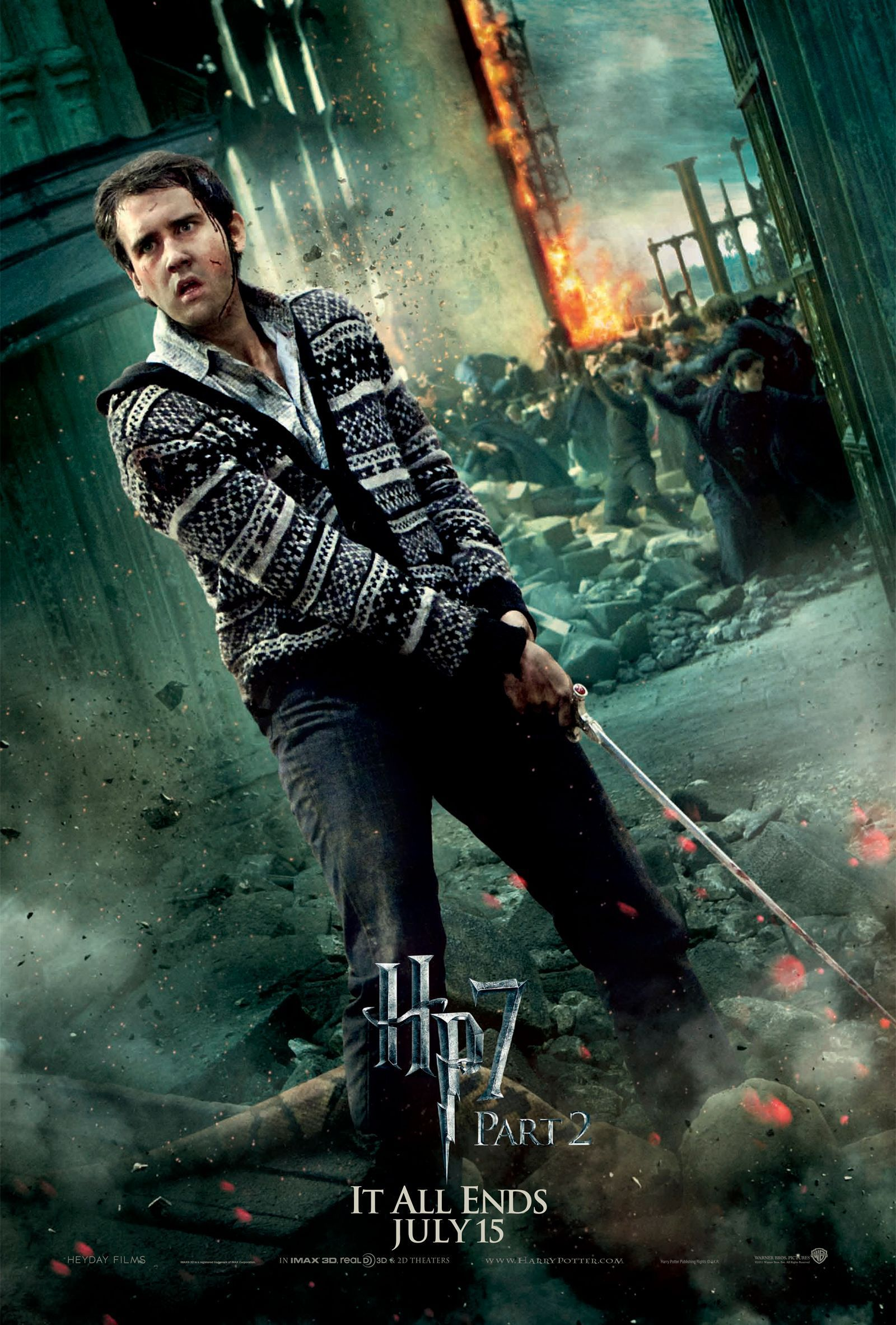Deathly Hallows Part 2 Action Poster:  Neville Longbottom [HQ]