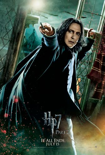 Deathly Hallows Part 2 Action Poster:  Severus Snape [HQ]