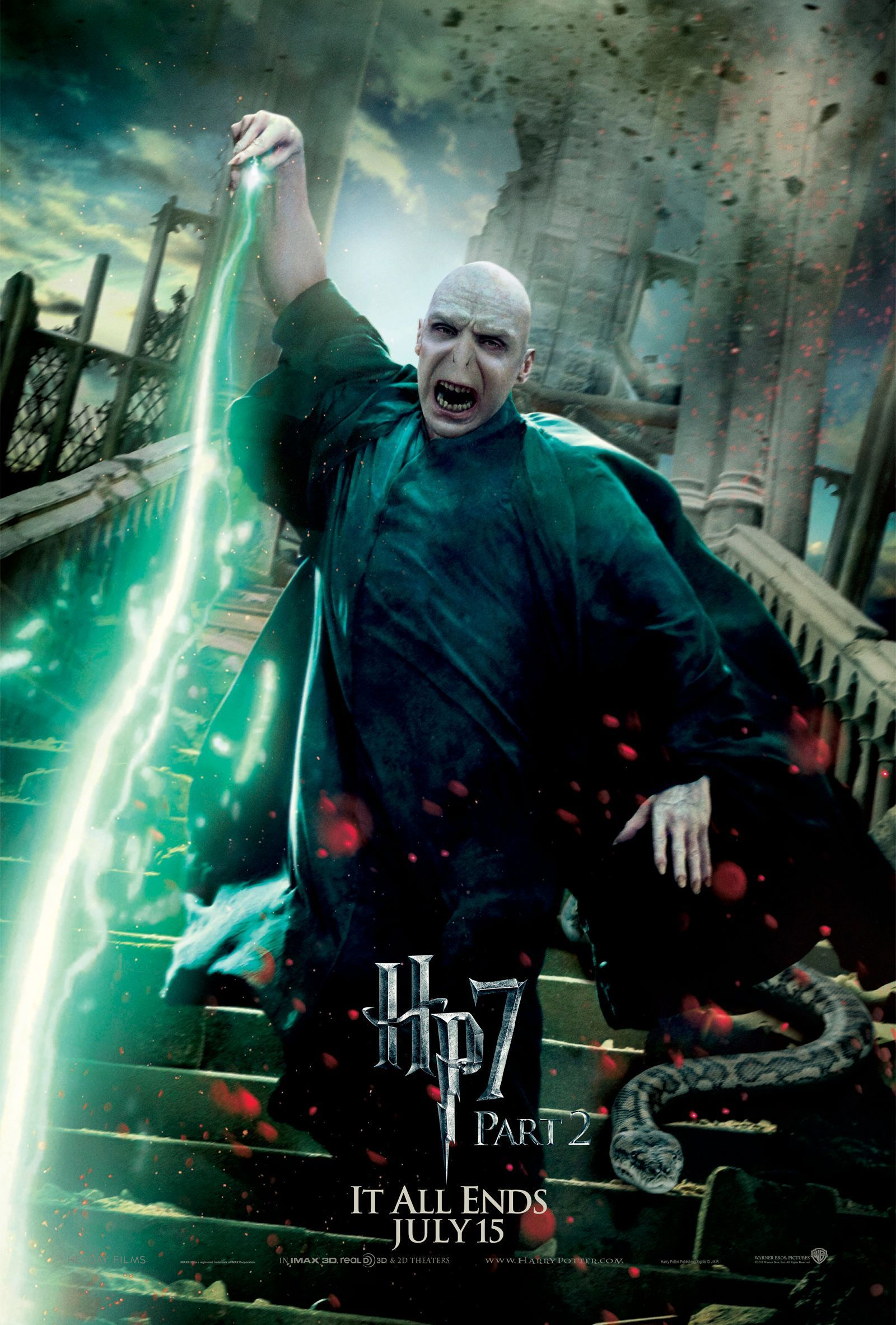 Deathly Hallows Part 2 Action Poster: Lord Voldemort [HQ]