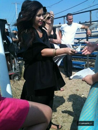 Demi - Shooting ELLE September Issue Magazine 2011