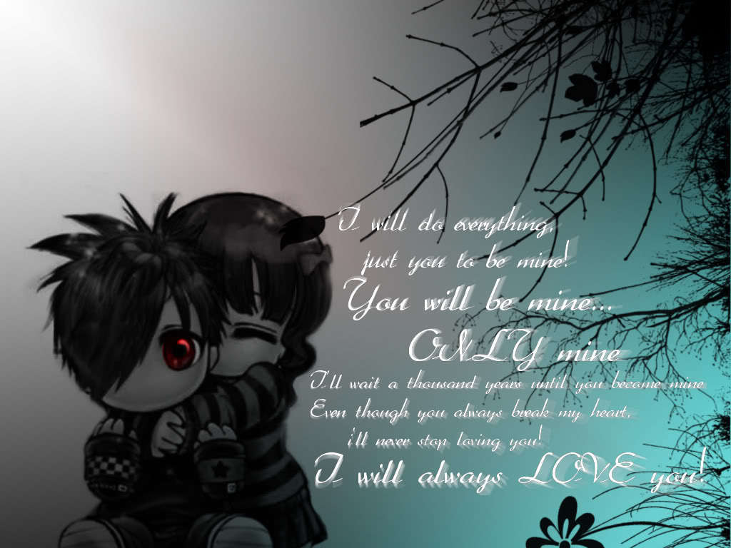 Love Wallpaper Girlfriend And Boyfriend : I love helenbieber images Emo bf & gf HD wallpaper and background photos (22758330)