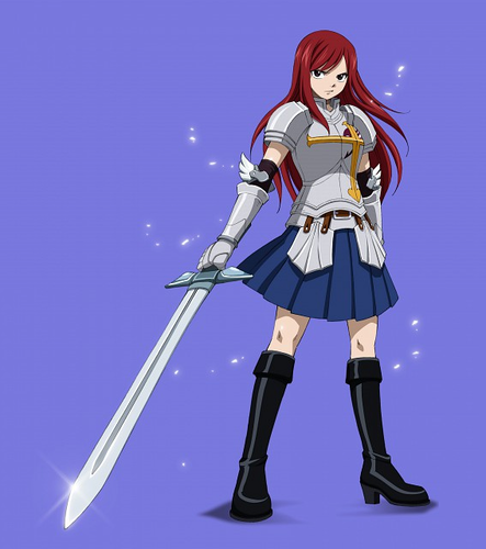 Erza Scarlet hình nền probably with a hip boot and a surcoat, áo lót titled Erza =)