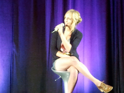 First pics of Candice at  'Bloody Night Con' in Spain! [June 11th 2011]!