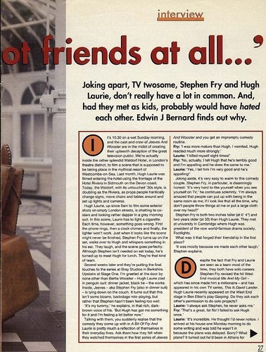 Fry & Laurie 1990 interview