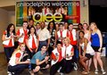 glee Cast backstage in Philadelphia meeting Mayor Nutter