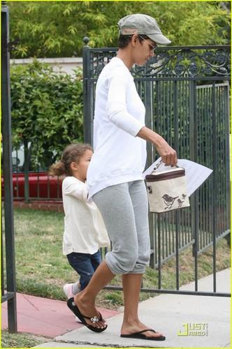 Halle Berry Picks Up Nahla From School